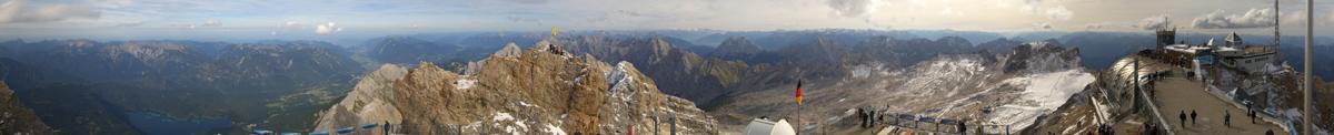 Panorama über der Zugspitze