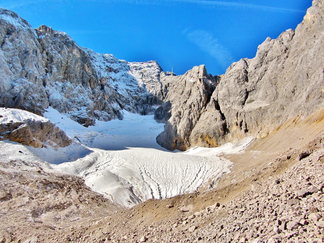Zugspitzferner mit Gipfel