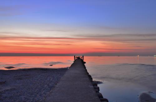 Abendrot Stein an der Ostsee